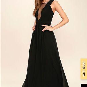 NWT Lulu's Dazzling Decadence Maxi Dress